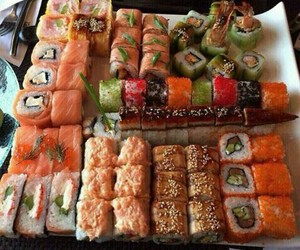 sushi, food, and eat image