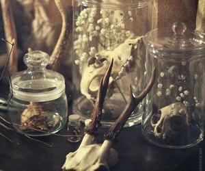 pagan, candle, and crystal image