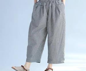 etsy, plaid pants, and cotton pants image
