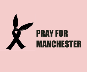 attack, manchester, and ariana grande image