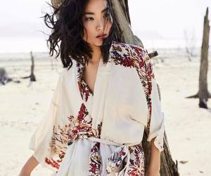 kimono, model, and prints image