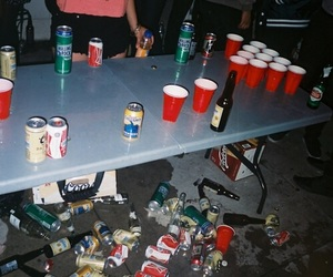 party, grunge, and drink image