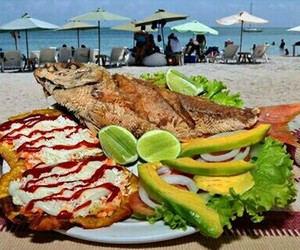 beach, food, and venezuela image