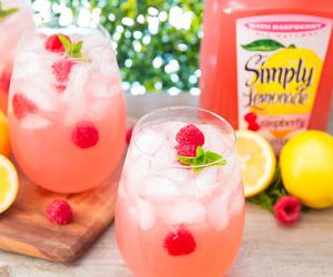 cocktail, drinks, and lemon image