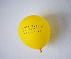 yellow, quotes, and balloon image