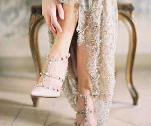 dress, shoes, and Valentino image