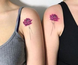 alternative, flowers, and tatto image