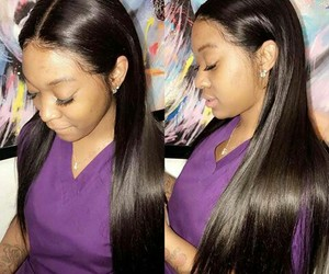 lace wig, long, and pretty image