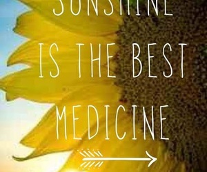 sunshine, medicine, and summer image