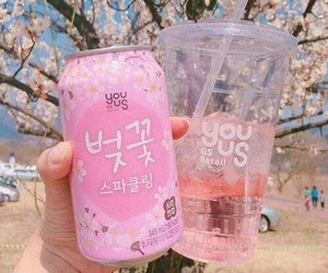 pink, aesthetic, and drink image