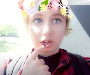 flowers and snapchat image