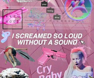 Collage, cry baby, and grunge image