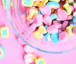 wallpaper, cereal, and pink image