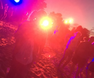 lights, beachparty, and rave image