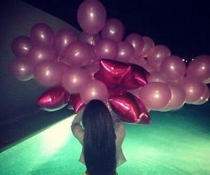 girl, pool, and pink image