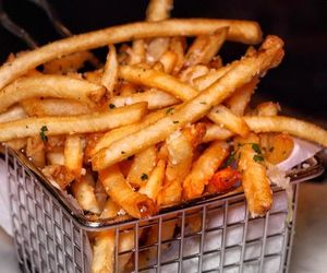 fast food, French Fries, and lunch image