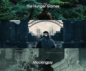 books, film, and hunger games image