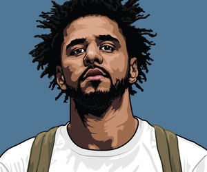 drawing, rap, and j cole image