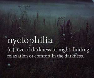 night, nyctophilia, and love image