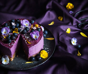 blueberry, cheesecake, and creamy image
