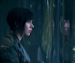 Scarlett Johansson and ghost in the shell image