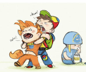 browser, chrome, and funny image
