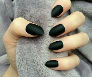 black, nails, and beauty image