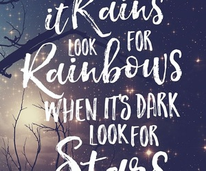 rainbow, quotes, and stars image