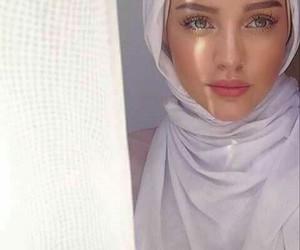 hijab, girl, and beauty image