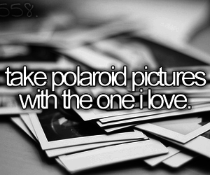 picture, polaroid, and bucket list image