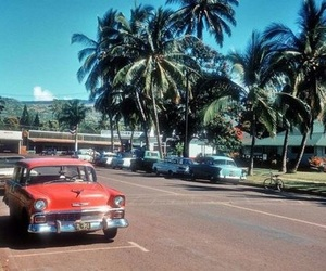 hawaii, vintage, and car image