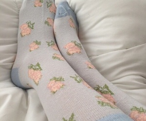 aesthetic, blue, and socks image