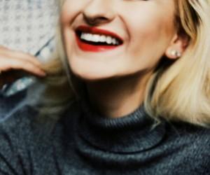 blonde, eyelashes, and fashion image
