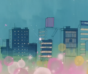 anime, sailor moon, and city image