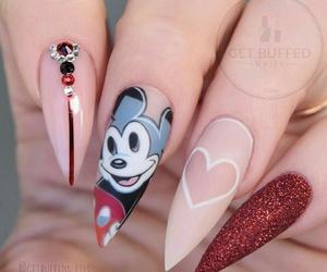 nails, disney, and girl image