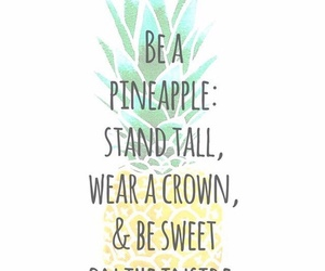 pineapple, crown, and sweet image