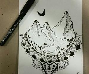 doodle, draw, and mandala image