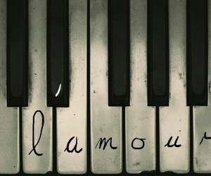 piano, music, and amour image