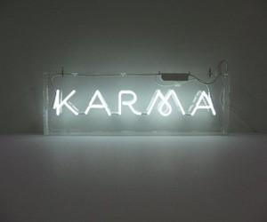 karma, neon, and light image