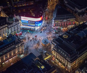 aerial, photography, and london image