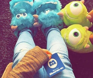 disney, fashion, and monsters inc image