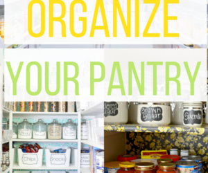 house, organize, and pantry image