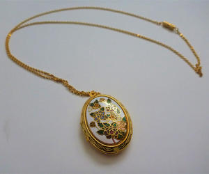 etsy, vintage, and locket necklace image