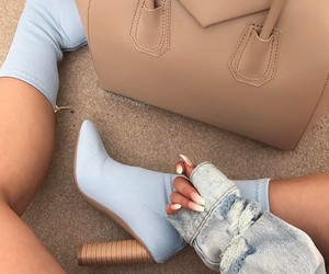 blue, denim, and shoes image