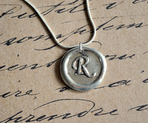 Letter, necklace, and old image