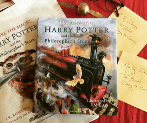harry potter, harry potter and the philosophers stone, and illustrated image