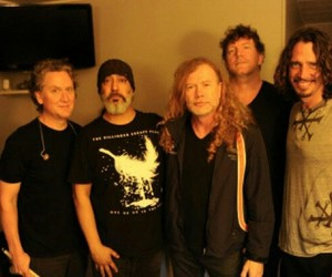 bands, chris cornell, and dave mustaine image