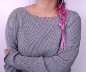cozy, pink, and hair image