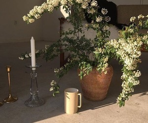 aesthetic, flowers, and candle image