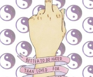 badass, grunge, and middle finger image
